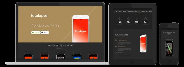 Fotolapse app / web design Preview