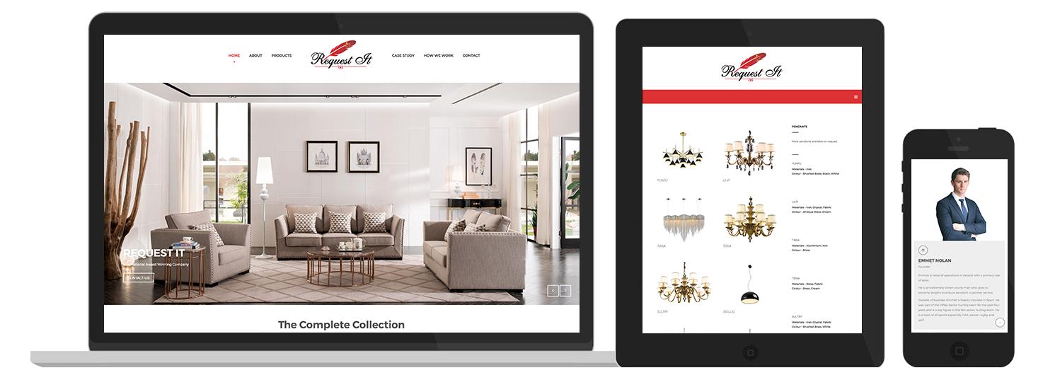 Requestit web design Preview