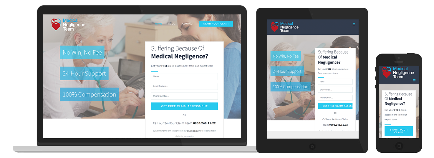 Medical Negligence Website Preview