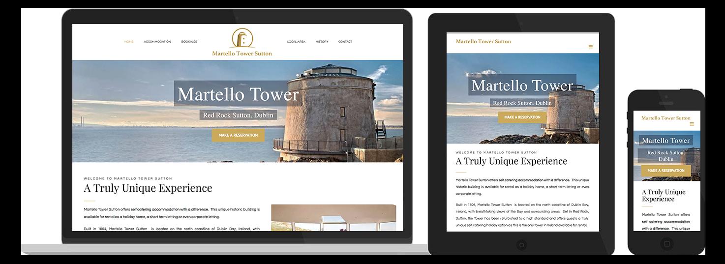 Martello Tower Web Design Preview