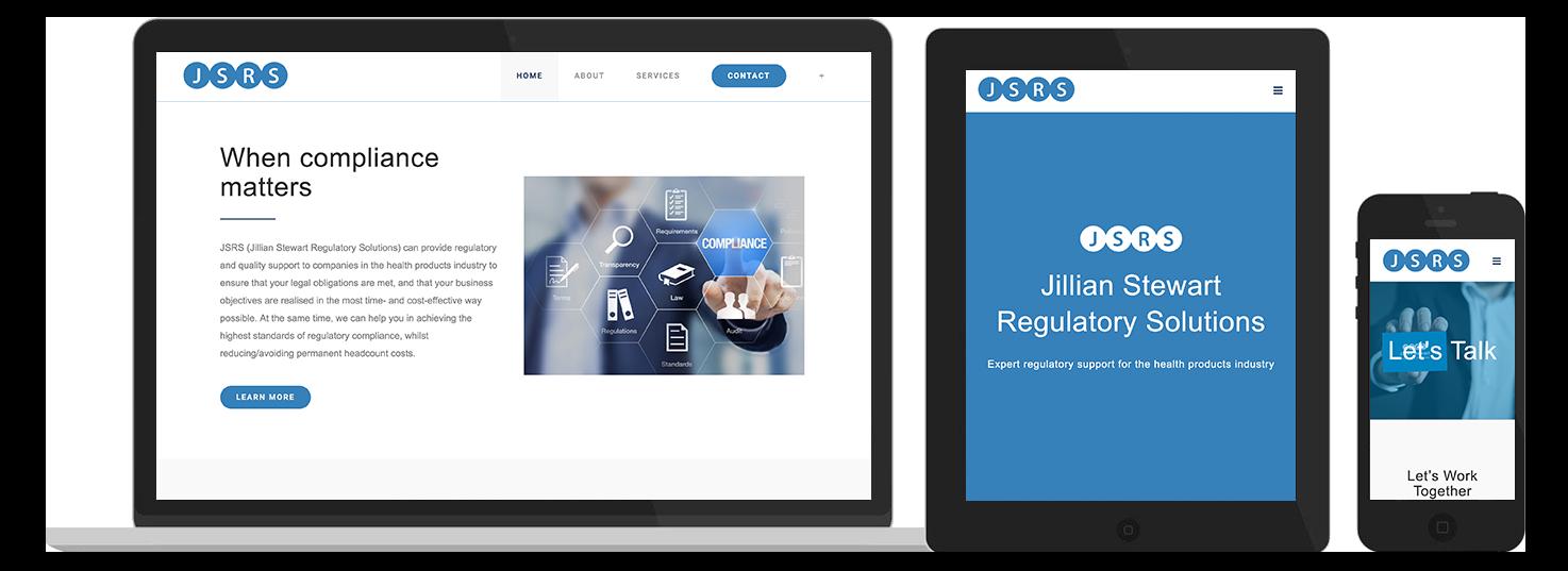 Jillian Stewart Regulatory Solutions Website Preview