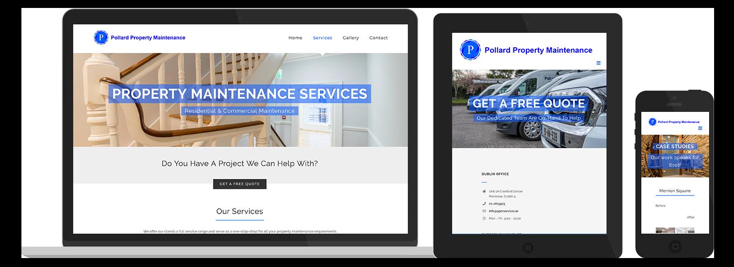 Pollard Property Maintenance Web Design preview