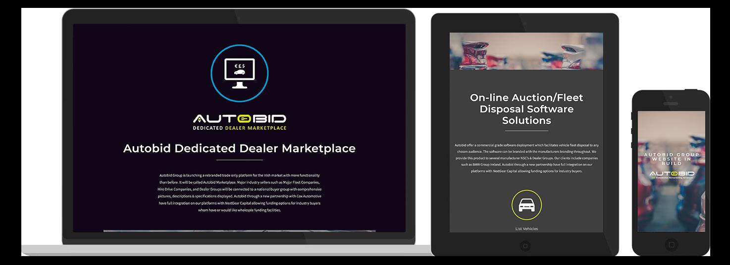 AutoBid Web Design preview