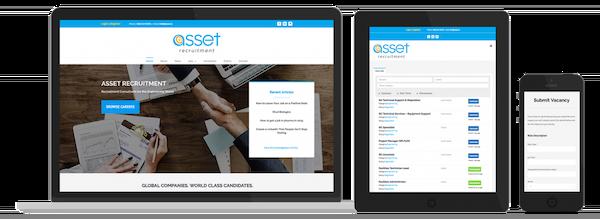 Asset Recruitment Web Design preview