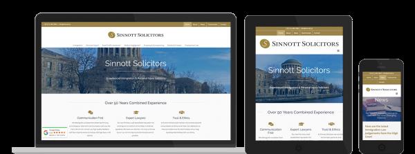 Sinnott Solicitors Web Design preview